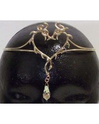 Double Dragon Bronze Circlet with Crystal Drop Mystic Convergence Metaphysical Supplies Metaphysical Supplies, Pagan Jewelry, Witchcraft Supply, New Age Spiritual Store
