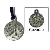 Aquarius Zodiac Pewter Necklace