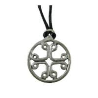 Pilgrims Cross Pewter Necklace