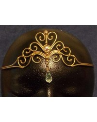 Heart Crystal Bronze Hand Made Tiara Mystic Convergence Magical Supplies Wiccan Supplies, Pagan Jewelry, Witchcraft Supplies, New Age Store