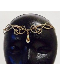 Iona Bronze Circlet with Crystal Drop Mystic Convergence Metaphysical Supplies Metaphysical Supplies, Pagan Jewelry, Witchcraft Supply, New Age Spiritual Store