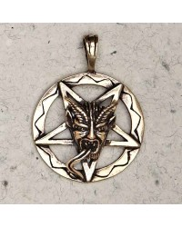 Baphomet Inverted Pentagram Bronze Necklace Mystic Convergence Metaphysical Supplies Metaphysical Supplies, Pagan Jewelry, Witchcraft Supply, New Age Spiritual Store