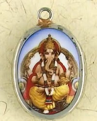 Ganesha Ceramic Necklace Mystic Convergence Metaphysical Supplies Metaphysical Supplies, Pagan Jewelry, Witchcraft Supply, New Age Spiritual Store