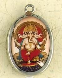 Ganesha Hindu Ceramic Necklace Mystic Convergence Metaphysical Supplies Metaphysical Supplies, Pagan Jewelry, Witchcraft Supply, New Age Spiritual Store