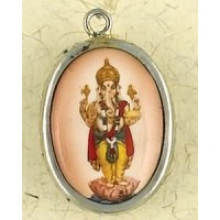 Dancing Ganesha Hindu Ceramic Necklace