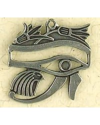 Eye of Horus with Lotus Pewter Necklace Mystic Convergence Metaphysical Supplies Metaphysical Supplies, Pagan Jewelry, Witchcraft Supply, New Age Spiritual Store