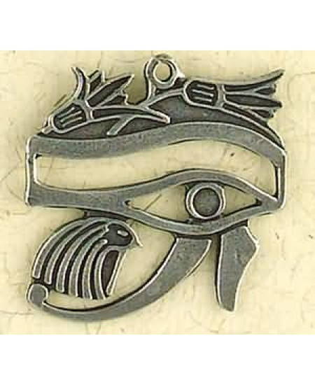 Eye of Horus with Lotus Pewter Necklace at Mystic Convergence Metaphysical Supplies, Metaphysical Supplies, Pagan Jewelry, Witchcraft Supply, New Age Spiritual Store