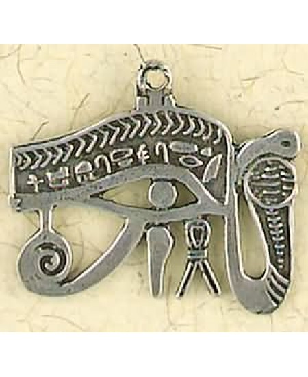 Eye of Horus Cobra Pewter Necklace at Mystic Convergence Metaphysical Supplies, Metaphysical Supplies, Pagan Jewelry, Witchcraft Supply, New Age Spiritual Store