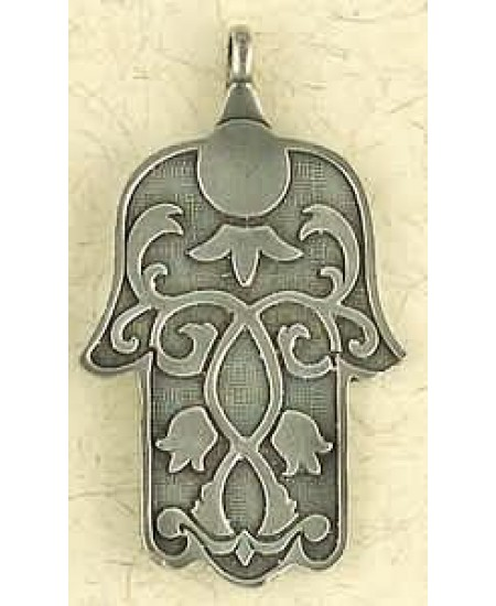 Hamsa Pewter Hand of Healing Necklace at Mystic Convergence Metaphysical Supplies, Metaphysical Supplies, Pagan Jewelry, Witchcraft Supply, New Age Spiritual Store