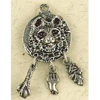 Bear Animal Spirit Pewter Necklace