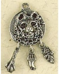 Bear Animal Spirit Pewter Necklace Mystic Convergence Metaphysical Supplies Metaphysical Supplies, Pagan Jewelry, Witchcraft Supply, New Age Spiritual Store