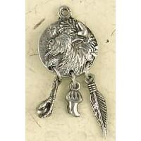 Buffalo Animal Spirit Pewter Necklace