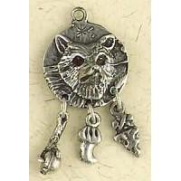 Coyote Animal Spirit Pewter Necklace