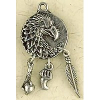 Eagle Animal Spirit Pewter Necklace
