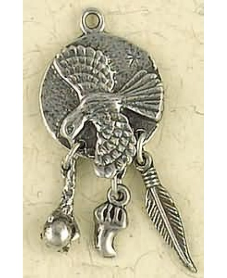 Hawk Animal Spirit Pewter Necklace at Mystic Convergence Metaphysical Supplies, Metaphysical Supplies, Pagan Jewelry, Witchcraft Supply, New Age Spiritual Store