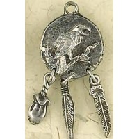 Raven Animal Spirit Pewter Necklace