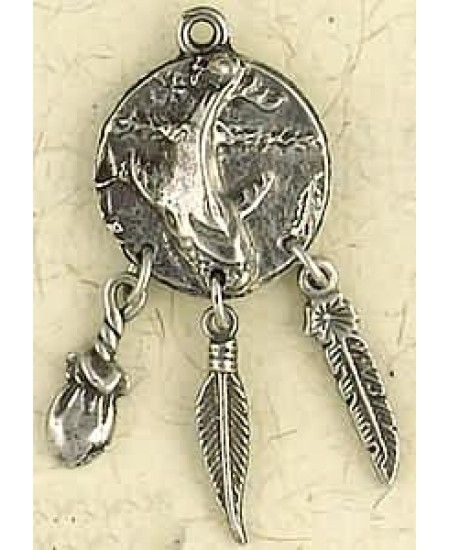 Whale Animal Spirit Pewter Necklace at Mystic Convergence Metaphysical Supplies, Metaphysical Supplies, Pagan Jewelry, Witchcraft Supply, New Age Spiritual Store