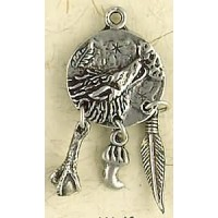 Wolf Animal Spirit Pewter Necklace