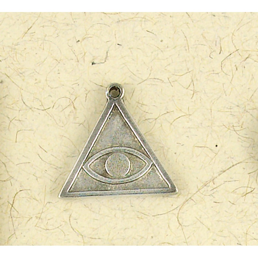 Iluminati all seeing eye pyramid symbol pewter necklace magic hermetic all seeing eye talisman necklace at mystic convergence wiccan supplies pagan jewelry witchcraft biocorpaavc