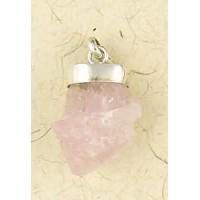 Rose Quartz Natural Crystal Capped Necklace