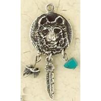 Bear Animal Spirit Sterling Slver Necklace