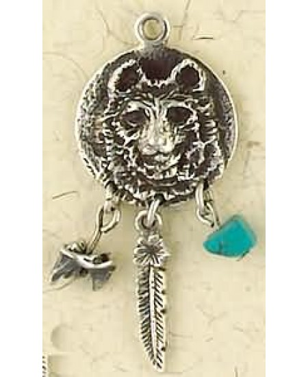 Bear Animal Spirit Sterling Slver Necklace at Mystic Convergence Metaphysical Supplies, Metaphysical Supplies, Pagan Jewelry, Witchcraft Supply, New Age Spiritual Store