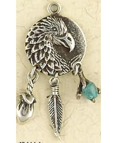 Eagle Animal Spirit Sterling Silver Necklace at Mystic Convergence Metaphysical Supplies, Metaphysical Supplies, Pagan Jewelry, Witchcraft Supply, New Age Spiritual Store