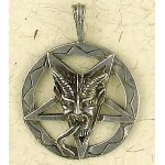 Baphomet Inverted Pentagram Pewter Necklace at Mystic Convergence Metaphysical Supplies, Metaphysical Supplies, Pagan Jewelry, Witchcraft Supply, New Age Spiritual Store
