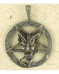 Baphomet Inverted Pentagram Pewter Necklace Mystic Convergence Metaphysical Supplies Metaphysical Supplies, Pagan Jewelry, Witchcraft Supply, New Age Spiritual Store