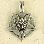 Baphomet Sterling Silver Inverted Pentagram Necklace at Mystic Convergence Metaphysical Supplies, Metaphysical Supplies, Pagan Jewelry, Witchcraft Supply, New Age Spiritual Store