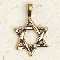 Star of David Bronze Necklace