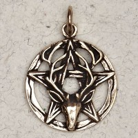 Stag Pentacle Bronze Necklace