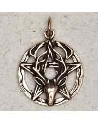Stag Pentacle Bronze Necklace Mystic Convergence Metaphysical Supplies Metaphysical Supplies, Pagan Jewelry, Witchcraft Supply, New Age Spiritual Store