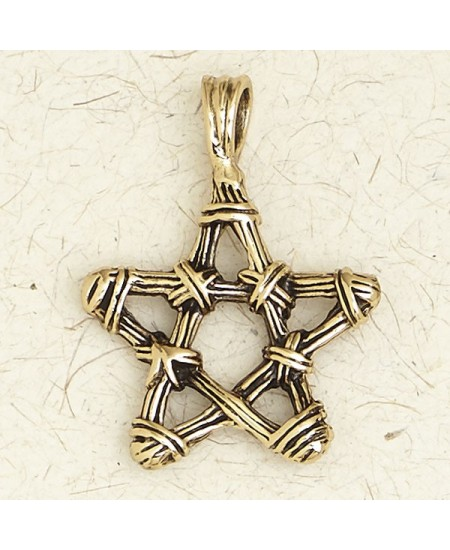 Pentacle Bronze Necklace at Mystic Convergence Metaphysical Supplies, Metaphysical Supplies, Pagan Jewelry, Witchcraft Supply, New Age Spiritual Store