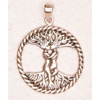 Lovers Tree of Life Bronze Necklace