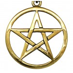 Bronze Pentacle Necklace at Mystic Convergence, Wiccan Supplies, Pagan Jewelry, Witchcraft Supplies, New Age Store