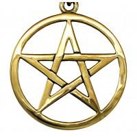 Bronze Pentacle Necklace