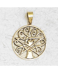 Pentacle Tree of Life Bronze Necklace Mystic Convergence Metaphysical Supplies Metaphysical Supplies, Pagan Jewelry, Witchcraft Supply, New Age Spiritual Store