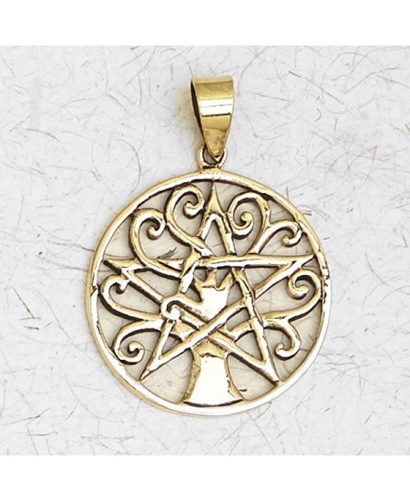 Pentacle Tree of Life Bronze Necklace at Mystic Convergence Metaphysical Supplies, Metaphysical Supplies, Pagan Jewelry, Witchcraft Supply, New Age Spiritual Store