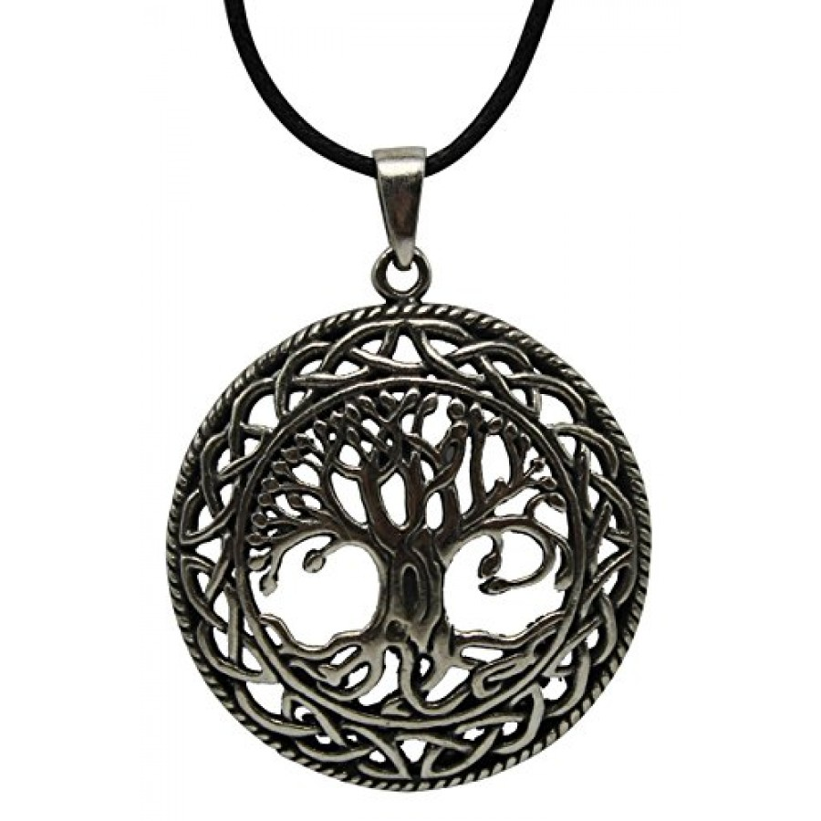 Celtic tree of life pewter necklace wicca pagan jewelry celtic tree of life pewter necklace aloadofball Gallery