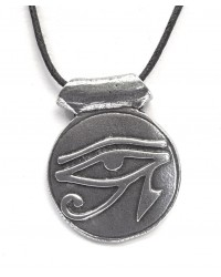 Eye of Horus Disk Pewter Necklace Mystic Convergence Metaphysical Supplies Metaphysical Supplies, Pagan Jewelry, Witchcraft Supply, New Age Spiritual Store