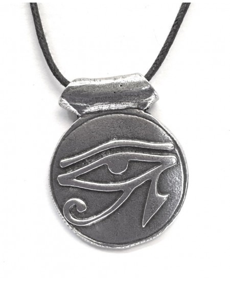Eye of Horus Disk Pewter Necklace at Mystic Convergence Metaphysical Supplies, Metaphysical Supplies, Pagan Jewelry, Witchcraft Supply, New Age Spiritual Store