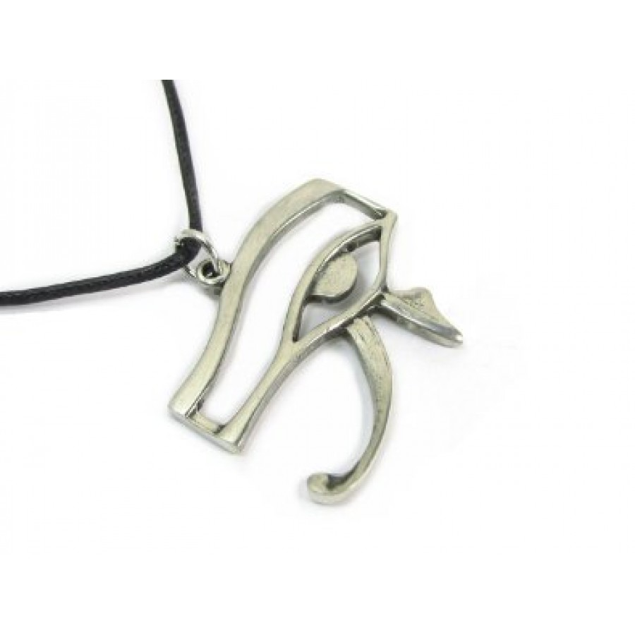 Eye of horus pewter amulent pendant necklace ancient egyptian symbol eye of horus pewter necklace at mystic convergence wiccan supplies pagan jewelry witchcraft biocorpaavc