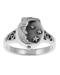 Moon and Stars Poison Ring Mystic Convergence Metaphysical Supplies Metaphysical Supplies, Pagan Jewelry, Witchcraft Supply, New Age Spiritual Store