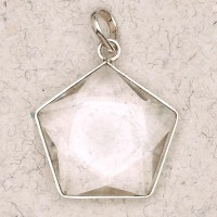 Clear Quartz 5 Point Prisma Star Pendant