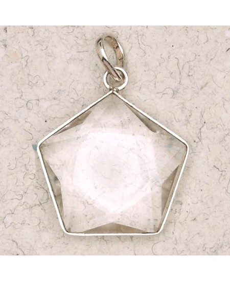 Clear Quartz 5 Point Prisma Star Pendant at Mystic Convergence Metaphysical Supplies, Metaphysical Supplies, Pagan Jewelry, Witchcraft Supply, New Age Spiritual Store