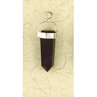 Black Onyx Sterling Silver Banded Pendant