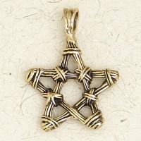 Bronze Twig Pentagram Necklace