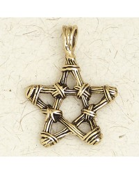Bronze Twig Pentagram Necklace Mystic Convergence Metaphysical Supplies Metaphysical Supplies, Pagan Jewelry, Witchcraft Supply, New Age Spiritual Store