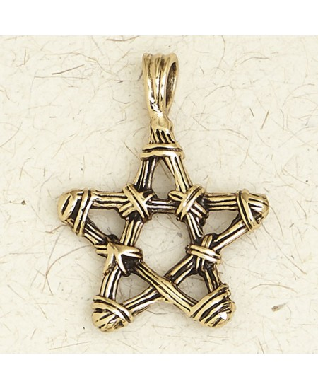 Bronze Twig Pentagram Necklace at Mystic Convergence Metaphysical Supplies, Metaphysical Supplies, Pagan Jewelry, Witchcraft Supply, New Age Spiritual Store